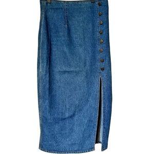 Christina Jeans Women's Maxi Denim Skirt